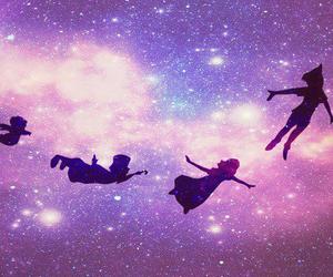 peter pan, disney, and galaxy image