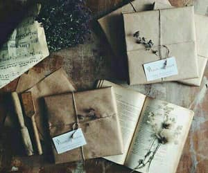 vintage, book, and flowers image