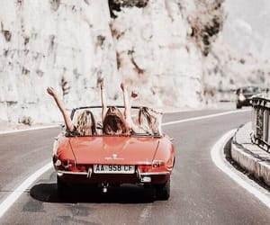 car, friends, and travel image
