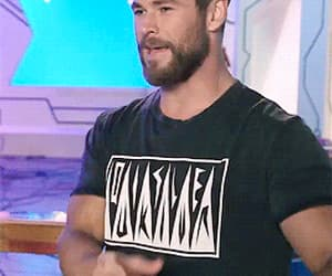 gif and chris hemsworth image