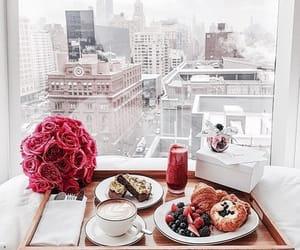 breakfast, food, and flowers image
