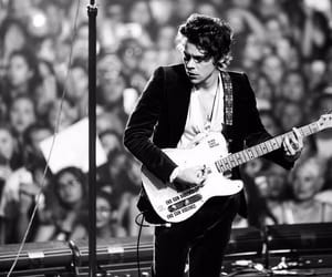 Harry Styles and black and white image