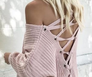pink, sweater, and girly girl image