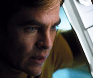 captain kirk, chris pine, and gif image
