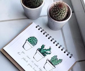 cactus, drawings, and smile image