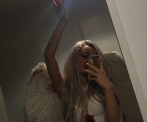 girl, angel, and grunge image