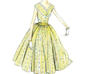 fashion, sewing patterns, and drawing image