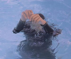 drowning, grunge, and hands image