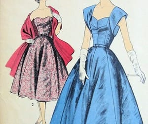 drawing, vintage, and vogue image