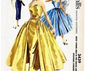 drawing, vintage, and fashion image