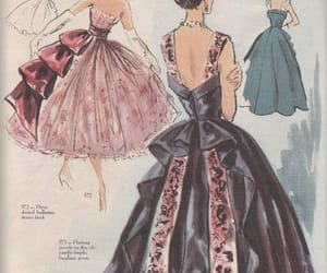 drawing, fashion, and vintage image
