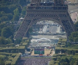 eiffel tower, football, and france image