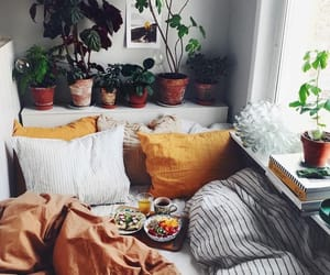 bed, room, and aesthetic image