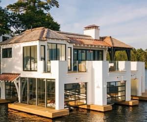 architecture, boathouse, and dream home image