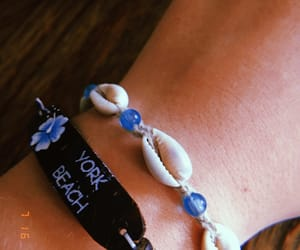 bracelets, good vibes, and beachy image