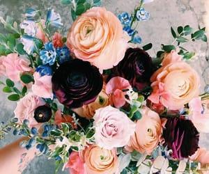 blue, boquet, and flower image