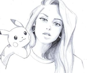 drawing, art, and pikachu image