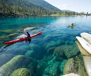 kayaking, usa, and lake tahoe image