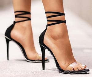 black, brand, and heels image