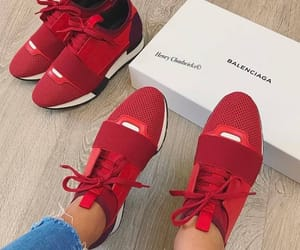 Balenciaga and red sneakers image