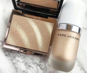 cosmetics, glow, and gold image