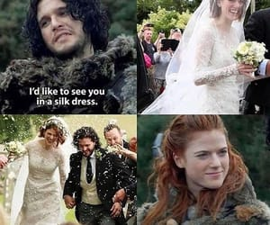 game of thrones, jon snow and ygritte, and love image