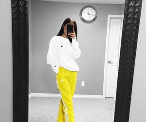 girl, yellow, and clothes image