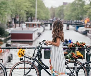 amsterdam, bike, and fashion image