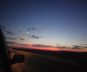 car, sky, and moon image