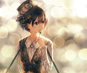 anime girl, dress, and hat image