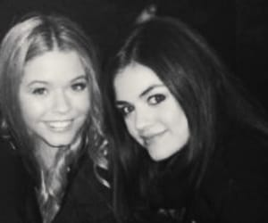 lucy hale, aria montgomery, and pretty little liars image