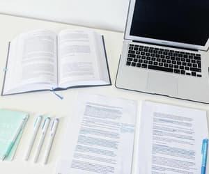 computer, homework, and summary image