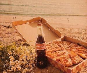 beach, coke, and daisies image