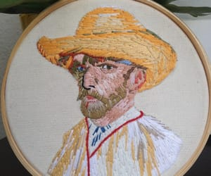 embroidery, Self Portrait, and vangogh image