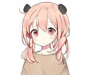 anime, pink hair, and pink eyes image