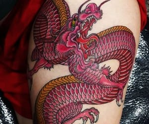 dragon, fashion, and tattoo image