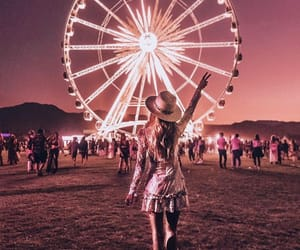 coachella, girl, and fashion image