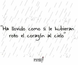 lluvia, frases en español, and frases de lluvia image