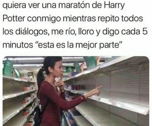 books, harry potter, and memes en español image
