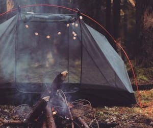 fire, camping, and autumn image