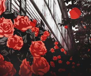 gif, anime, and flowers image