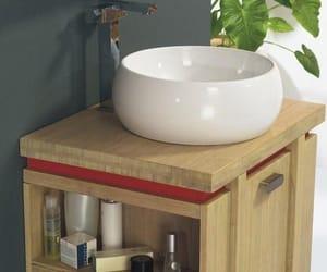 bamboo bathroom cabinet image