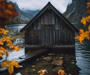 autumn, cabin, and relaxing image