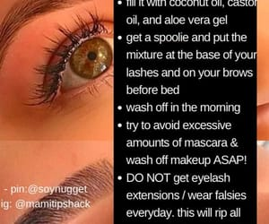 hygiene tips, eyebrows, and self care image