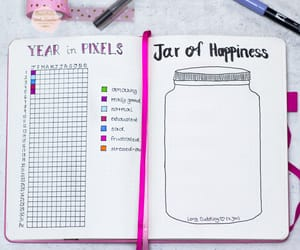 journaling, school, and jar of happiness image