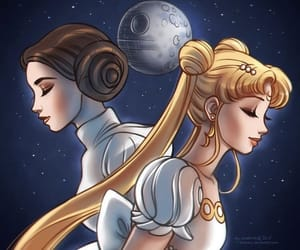 sailor moon and star wars image
