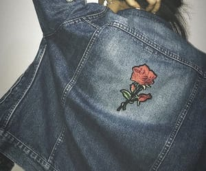 clothes, girl, and rose image