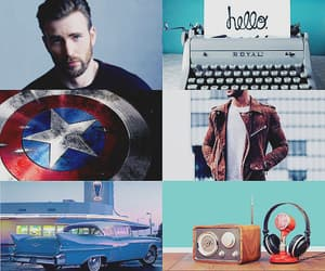 aesthetic, blue, and captain america image
