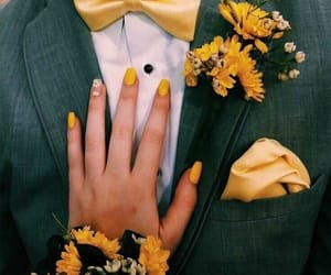yellow, couple, and cute image