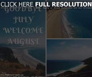 july, welcome august, and august month image